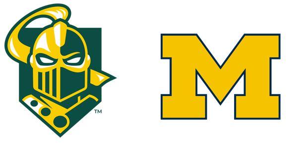 Clarkson University and the University of Michigan Athletics logos