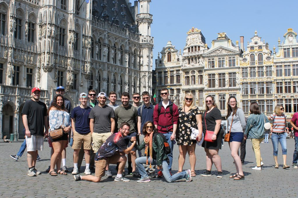 Clarkson students from UNIV 399 on abroad trip to Germany